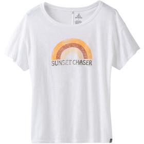Prana Chez T-shirt Dames, white sunset